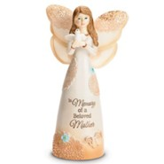 In Memory Of A Beloved Mother Angel Figurine