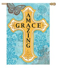 Amazing Grace, Cross Flag, Large