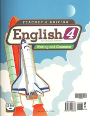 BJU English: Writing & Grammar 4, Teacher's Edition   (Second Edition)