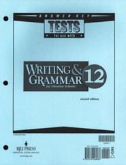 BJU Writing & Grammar Answer Key Grade 12 (Second Edition)