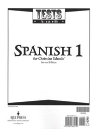 BJU Press Spanish 1 Tests (Second Edition)