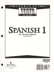 BJU Spanish 1 Tests Answer Key (Second Edition)