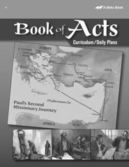 Abeka Book of Acts Curriculum/Daily Plans