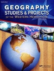 Abeka Geography Studies and Projects of the Western   Hemisphere, Third Edition