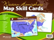 Abeka Western Hemisphere Map Skill Cards--Grades 6 to 8  (Updated Edition)