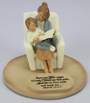 Show Me Your Ways, O Lord, Mom with Son Figurine