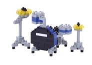 Nanoblock Mini, Drum Set, Blue