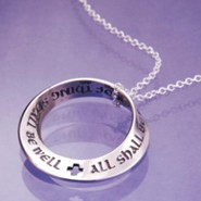 All Shall Be Well, Sterling Silver Mobius Pendant