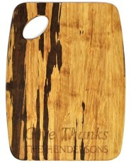 Personalized, Tiger Wood Cutting Board, Give Thanks,   Large