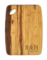 Personalized, Tiger Wood Cutting Board, Couple Initials, Small
