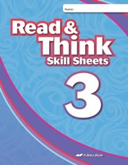 Abeka Read & Think Skill Sheets 3
