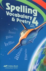 Abeka Spelling, Vocabulary, and Poetry 4, Fifth Edition