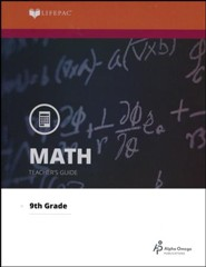 Lifepac Math, Grade 9 (Algebra I), Teacher's Guide