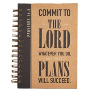 Commit To the Lord Whatever You Do Journal, Wirebound