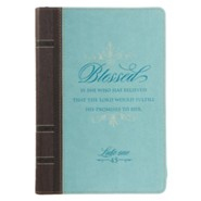 Blessed Journal, with Zipper, Lux Leather