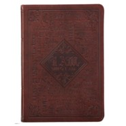 Names of God Journal, Lux Leather, Brown