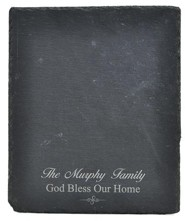 Personalized, Slate Cutting Board, God Bless Our Home