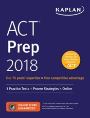 ACT 2018 Strategies, Practice & Review: Online + Book