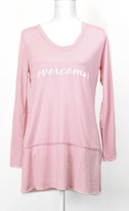 Overcomer, Long Sleeve Shirt, Pink, XX-Large