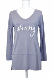 Strong, Long Sleeve Shirt, Gray, Small
