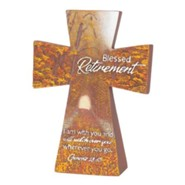 Blessed Retirement Tabletop Cross