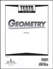 BJU Geometry Tests, Grade 10, Third Edition