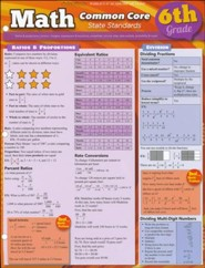 6th Grade Math Common Core State Standards QuickStudy Chart