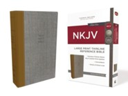 Hardcover Gray / Tan Large Print Red Letter