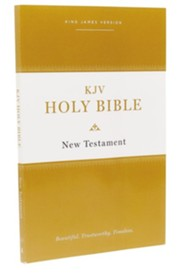 KJV Holy Bible New Testament--softcover, multicolor