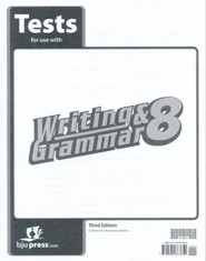 BJU Writing & Grammar Grade 8 Tests, Third Edition