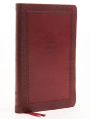 KJV Comfort Print Thinline Bible, Imitation Leather, Red