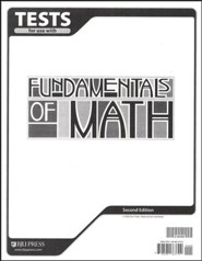 BJU Fundamentals of Math Grade 7 Tests, Second Edition