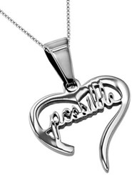 Possible Handwriting Heart Necklace