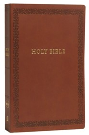 NKJV Comfort Print Holy Bible, Soft Touch Edition, Imitation Leather, Brown
