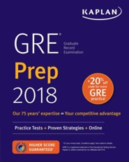 GRE 2018 Strategies, Practice, and Review with 4 Practice Tests: Online + Book