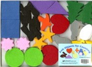 Abeka Felt Objects for Counting (K4-K5; 144 pieces)