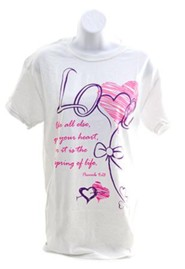 Love Above All Else Shirt, White, Small