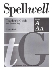 Spellwell A & AA Teacher's Guide and Answer Key
