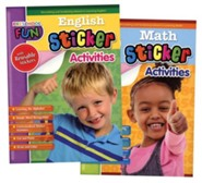 Preschool Fun: English Sticker and Math Sticker Activities Bundle