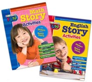 Preschool Fun - English and Math Story Activities Bundle