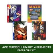 ACE Core Curriculum Kit (4 Subjects), PACEs Only, Grade 4, 3rd Edition (with 4th Edition Science & Social Studies)