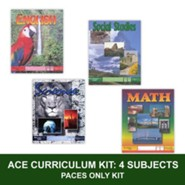 ACE Core Curriculum Kit (4 Subjects), PACEs Only, Grade 9, 3rd Edition (with 4th Edition World Geography)