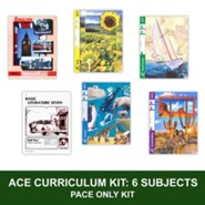 ACE Comprehensive Curriculum (6 Subjects), Single Student PACEs Only Kit, Grade 7, 3rd Edition (with 4th Edition Math & Social Studies)