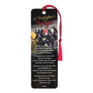 Firefighter's Prayer Bookmark with Tassel