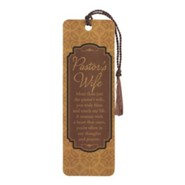 Pastor's Wife, More Than Just the Pastor's Wife Bookmark with Tassel