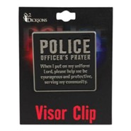 Police Officer's Prayer Visor Clip
