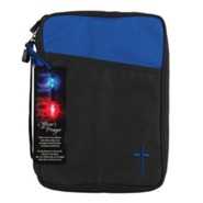 Canvas Bible Cover, Black, Police Officer Gift, Large