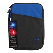 Canvas Bible Cover, Black, Police Officer Gift, Thinline Blue, Thinline