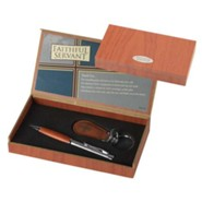 Faithful Servant Pen and Keyring Gift Set