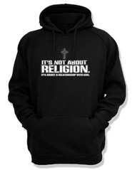 It's Not About Religion, Hooded Sweatshirt, Black, Small